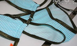 Social-Bikini (Olive/Beach Sea)