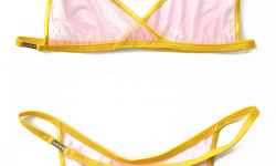 Social-Lingerie (Yellow/Mesh Pussy)