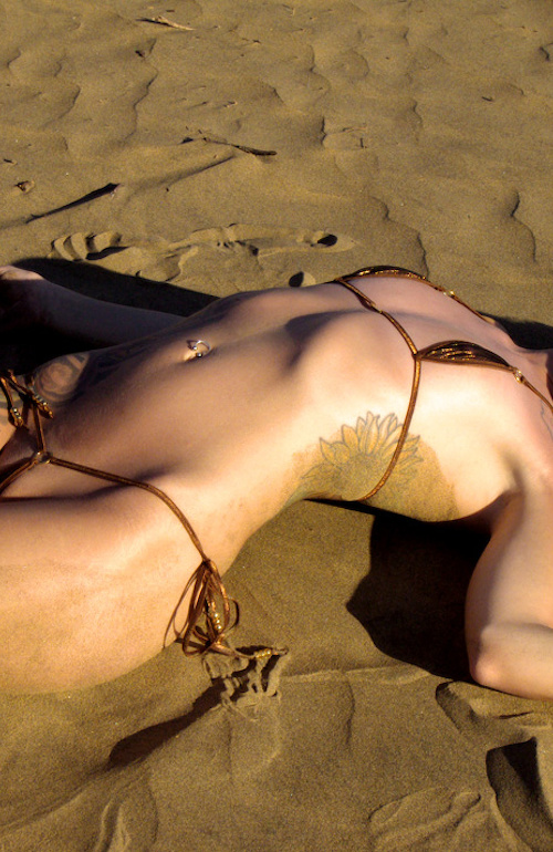 Maria wears Hysterical Bikini (Brown/Metalmesh Bronze)