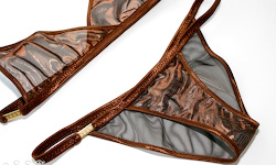 Social-Lingerie (Brown/Metalmesh Bronze)
